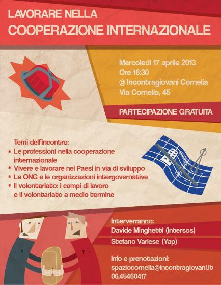 """Seminario """"Le Professioni della Cooperazione Internazionale"""""""